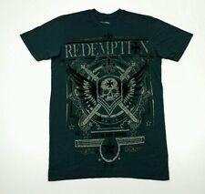 Raw State Affliction T Shirt Small Velvet Embelishment Skull Swords
