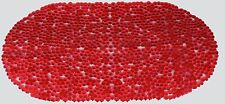 NEW NON SLIP PVC BATH SHOWER  MAT CRYSTAL RED OVAL SHAPE