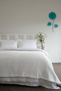 RANS Ardent Waffle Blankets Queen/King size 100% Cotton Super Soft
