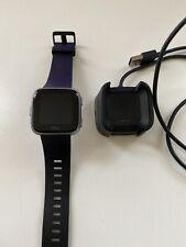 Used Fitbit Versa Smart Watch Black Aluminum 1st Generation