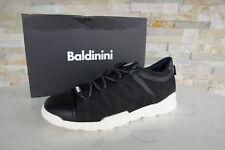 Baldinini Gr 43 Sneakers Schnürschuhe Halbschuhe Schuhe schwarz NEU ehemUVP 338€