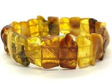 AMBER BRACELET Natural BALTIC AMBER Yellow Honey Egg Yolk Beads Ladies 14g 11247