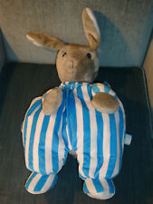 Zoobies Good Night Moon Bunny Rabbit Striped Pajamas Slumber Party Plush Toy