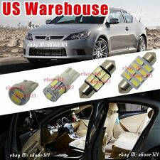 9-pc Luxury White LED Lights Interior Package Dome Map Kit For Scion tC 05-16