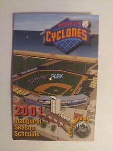 2001 Brooklyn Cyclones Pocket Schedule Inaugural Season New York Mets Affiliate