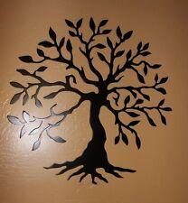 "Olive Tree --Tree of Life Black  14"" Metal Wall Art Decor"