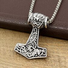 Myth THOR'S HAMMER Celtic Mjolnir Nordic Viking Pendant Amulet Men's Necklace