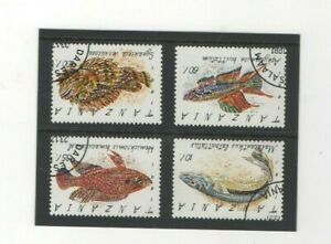 1992 TANZANI - FISH USED STAMPS FROM COLLECTION BK1