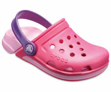 Crocs Kids' Electro Pink Clogs Pool Shoes