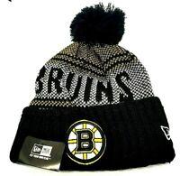 Boston Bruins Knit Hat New Era or Reebok Sport Pom Beanie Hat NHL 50% OFF RETAIL