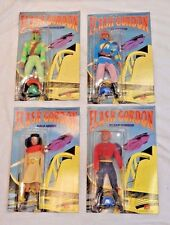 NOS Flash Gordon Brand New Unopened Figures with Un-Punched Cards - 4 Total