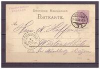 Deutsches Reich, Ganzsache P 18 Breslau nach Wüstenselbitz 1888