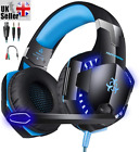 Gaming Headset For Xbox One PS4 PS5 Nintendo Switch & PC 3.5mm Mic Headphones UK