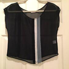 Zoa New York Sheer Navy Blouse, Size XS
