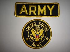Set Of 2 New US ARMY Insignia Merrow Edge Patches *Never Used*