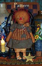 Primitive Patti's Ratties Raggedy Ann Grungy Annie Doll Paper Pattern #595