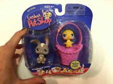 LITTLEST PET SHOP BUNNY WITH CHICK IN BASKET NO NUMBER VERY RARE