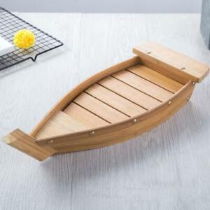"""Kitchen Bamboo Sushi Boat Large 20"""" Serving Tray for Sashimi Appetizers Hot"""