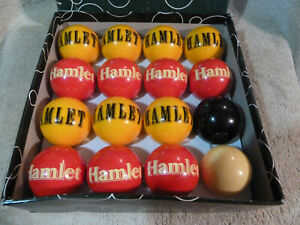 """Vintage Hamlet Special Edition 2""""/50mm  UK Pool Balls Full Set - Great Condition"""