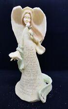 Foundations Angel figurine by Karen Hahn; Happy Anniversary