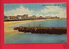 OCEAN GROVE  NJ  STONE JETTY 1954   PAAS DYE CO  NEWARK NJ POSTCARD