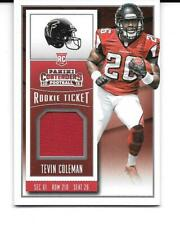 TEVIN COLEMAN 2015 PANINI CONTENDERS ROOKIE RC GAME JERSEY #RTS-TC FALCONS