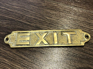 OLD BRASS EXIT SIGN
