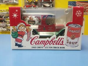 ERTL  Collectibles 1923 CHEVY 1/2 TON TRUCK  BANK  CAMPBELL'S  SOUP COMPANY  NEW