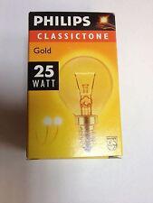 PHILIPS lampadina Gocce P45 230V 25W E14 a goccia ORO DECORAZIONE GELUESTERT