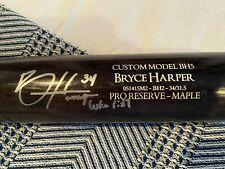 Bryce harper sign Game used bat Washington Nationals