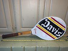 Davis Imperial Deluxe Wood Vintage Tennis Racquet Leather