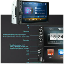 2DIN Car Radio MP5 Player Bluetooth 2.0 USB TF FM Stereo Mirror Link With Remote