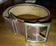 WW2 US ARMY GARRISON BELT, RUSSET LEATHER Size 36