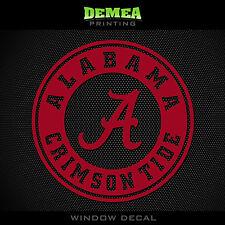 "Alabama Crimson Tide_Text - NCAA - Red Vinyl Sticker Decal 5"""
