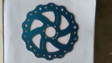 Made in Usa Mountain bike Disc Rotor 180 mm-6 bolt braking system-Royal Blue
