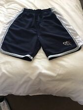 AND1 Basketball Shorts - LARGE Navy/Silver/White VINTAGE RETRO 1996