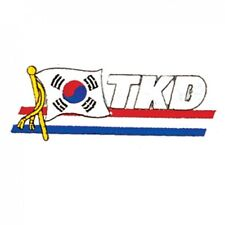 "Tkd Korea Flag Martial Arts Patch - 4.5"" P1254"