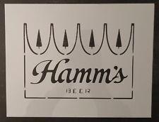 """Hamm's Hamms Beer 11"""" x 8.5"""" Custom Stencil FAST FREE SHIPPING"""
