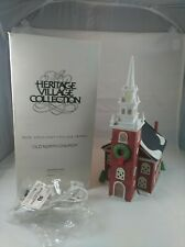 "Dept 56 New England Village ""Old North Church "" #59323 Excellent"