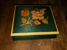L@k! San Francisco Music Box Co Made in Italy Jewelry Box Roses Reuge