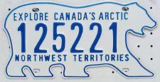 Northwest Territories License Plate Canada, TARGA ORIGINALE 125221