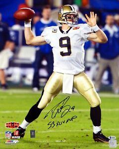 Reprint Drew Brees Autographed 8x10 Photo New Orleans Saints Super Bowl Man Cave
