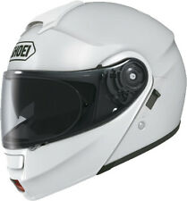 SHOEI NEOTEC GLOSS WHITE FLIP FRONT MOTORCYCLE HELMET - MEDIUM **EX DISPLAY**