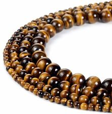 Yellow Tiger Eye AAA Gemstone Loose Beads Natural Round 6mm 8mm 10mm Strand 15''