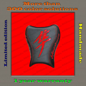Design Front Seat Cover Suzuki Hayabusa 08+ HANDMADE black+red-gloss 001