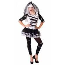Ladies Monster Zombie Corpse Bride Doll Halloween Fancy Dress Costume