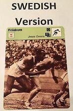 1982 JESSE OWENS SWEDISH SPORTSCASTER card  - from Sweden