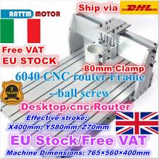 【IT】6040 Desktop CNC Router Ball Screw Engraving Milling macchina Frame Kit 80mm