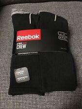 REEBOK Crew Socks Size 10-13 Men's Black/Gray  6 Pack, Shoe Size 6-12.5