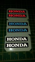 """***HONDA """"REFLECTIVE"""" 3D DOMED BADGE STICKER GRAPHIC DECAL MOTORBIKE***x2"""